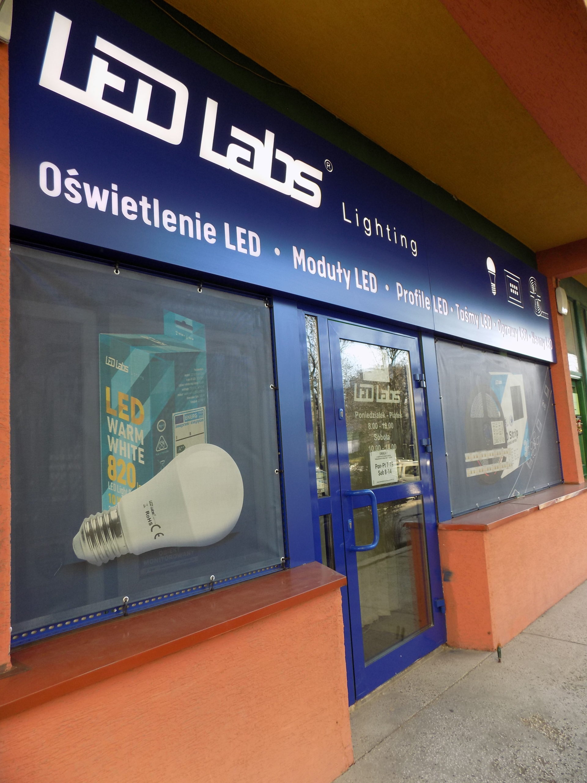 Led Labs sp. z o.o. Oświetlenie LED ul. Zakopiańska 2C, Kraków - monitoring